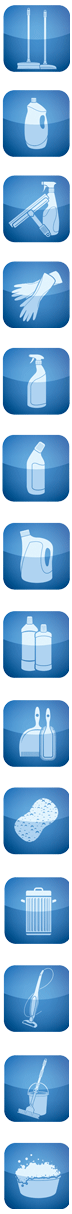Icons indicating the domestic cleaning services we offer